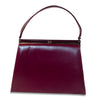 Vintage Naturalizer Two Tone Burgundy Structured Handbag 2, Gold Hardware