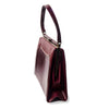 Vintage Naturalizer Two Tone Burgundy Structured Handbag 3, Gold Hardware