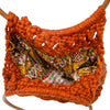 Vintage Macrame Handbag, Dark Orange 5