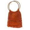 Vintage Macrame Handbag, Dark Orange