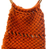 Vintage Macrame Handbag, Dark Orange 4
