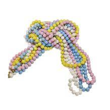 1960s Beaded Necklace Set, Pastel Beads in Blue, Pink, Yellow & White