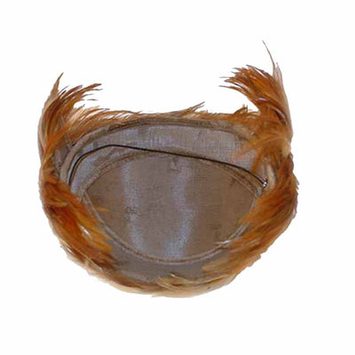 1950s Pheasant Feather Half Hat 4