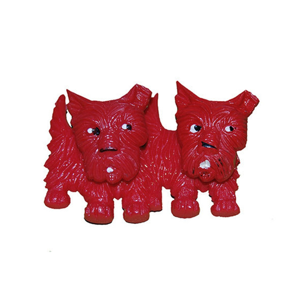 1930s Red Scottie Dog Brooch, S.S. Kresge Pin-Up Pups
