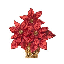 Red Poinsettia Pin