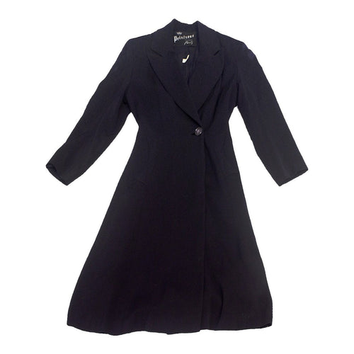 1950s Navy Blue Wool Princess Coat, Size Small