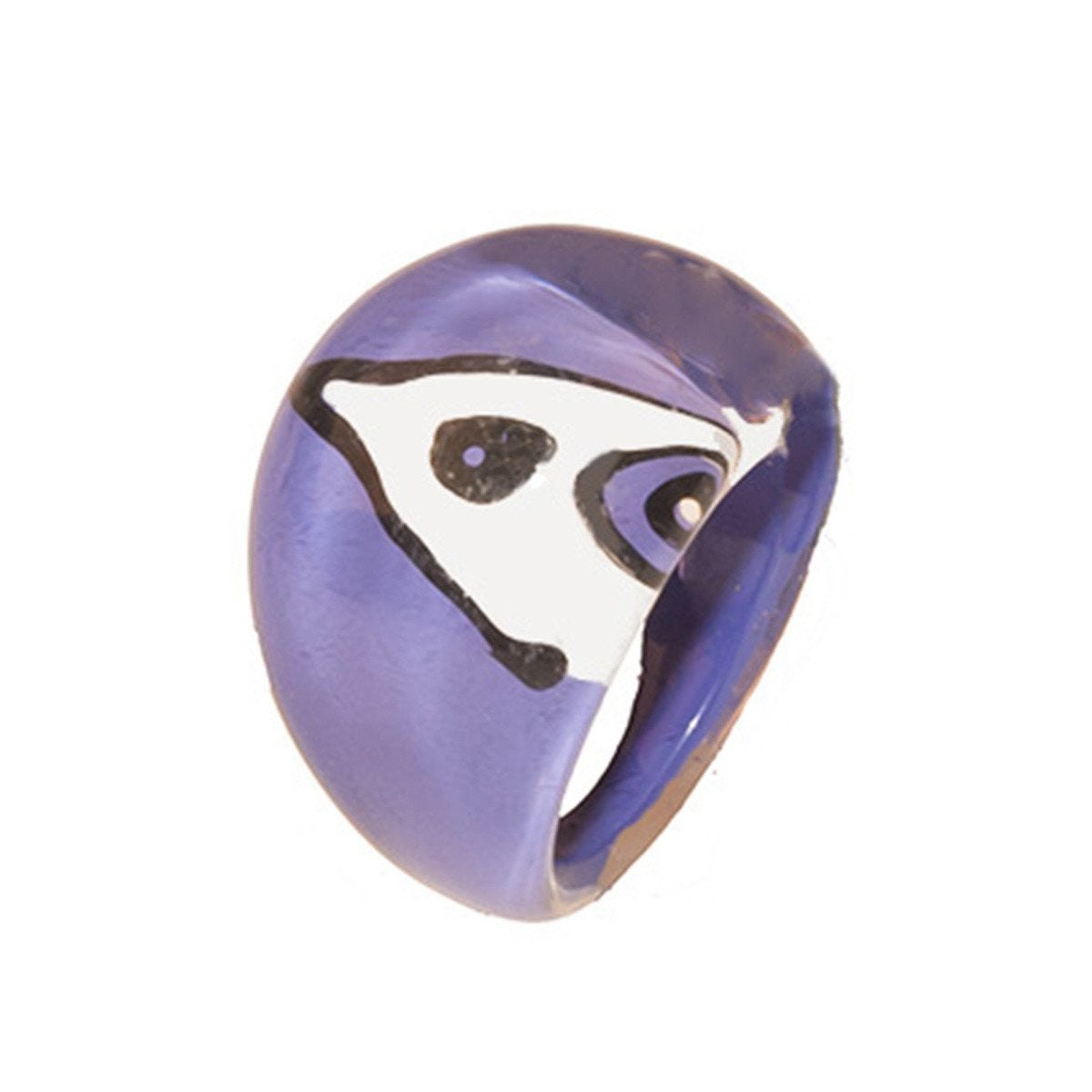 Purple Bubble Ring, Abstract Design, Ring Size 5