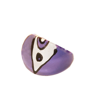 Purple Bubble Ring 3, Abstract Design, Ring Size 5