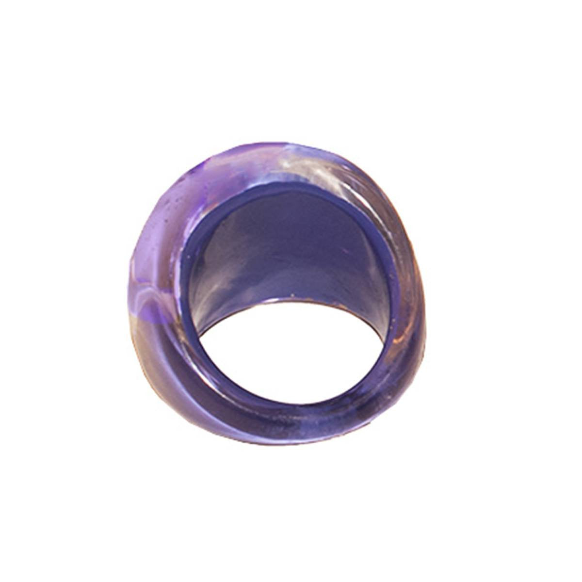 Purple Bubble Ring 5, Abstract Design, Ring Size 5