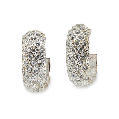 Ralph Lauren Vintage Crystal Hoop Earrings, rhinestone earrings