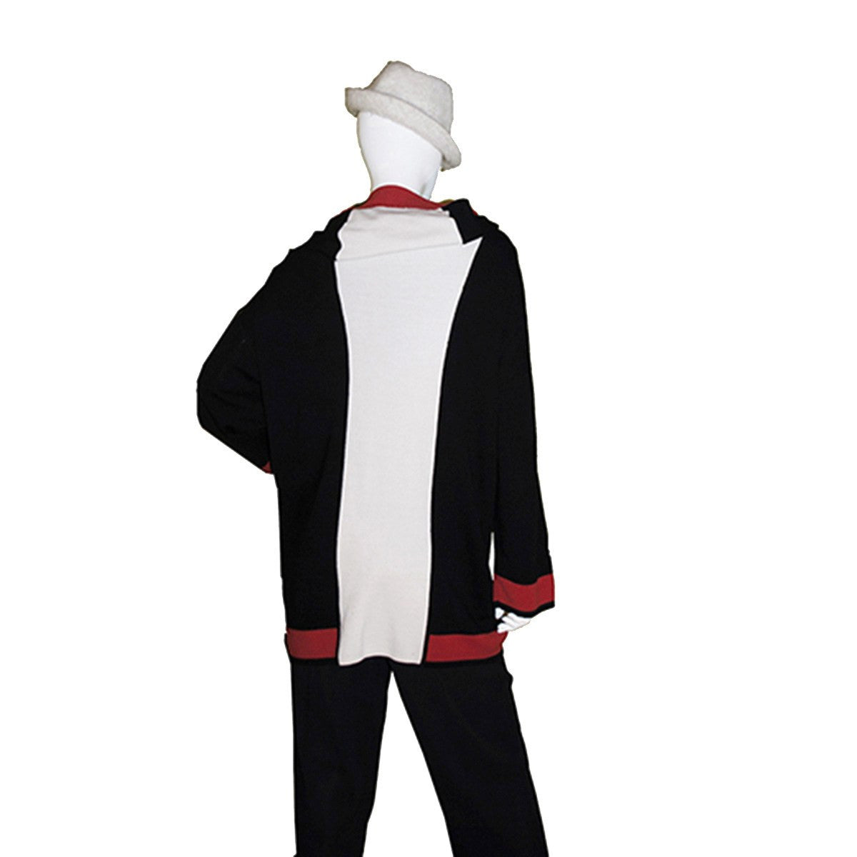 Vintage Italian Color Knit Cardigan 3, Self Hood, Red, Black & White Color Block 2