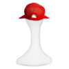 Ladies Red Straw Visor Cap 4, Fits Most