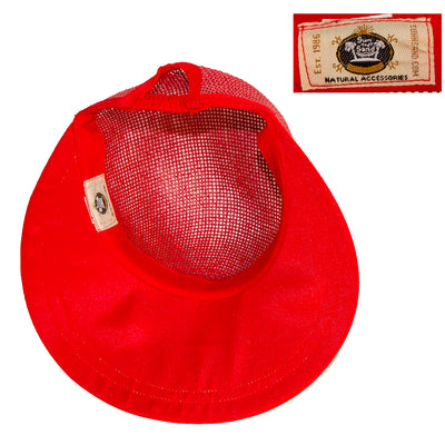 Ladies Red Straw Visor Cap 6, Fits Most