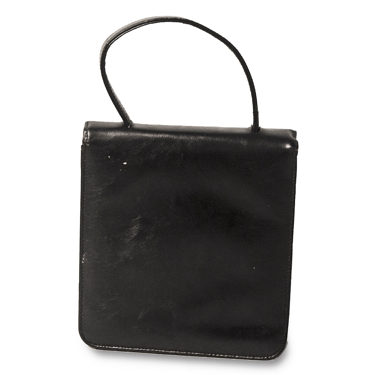 1950s Black Cocktail Bag 4, Rhinestone Closure