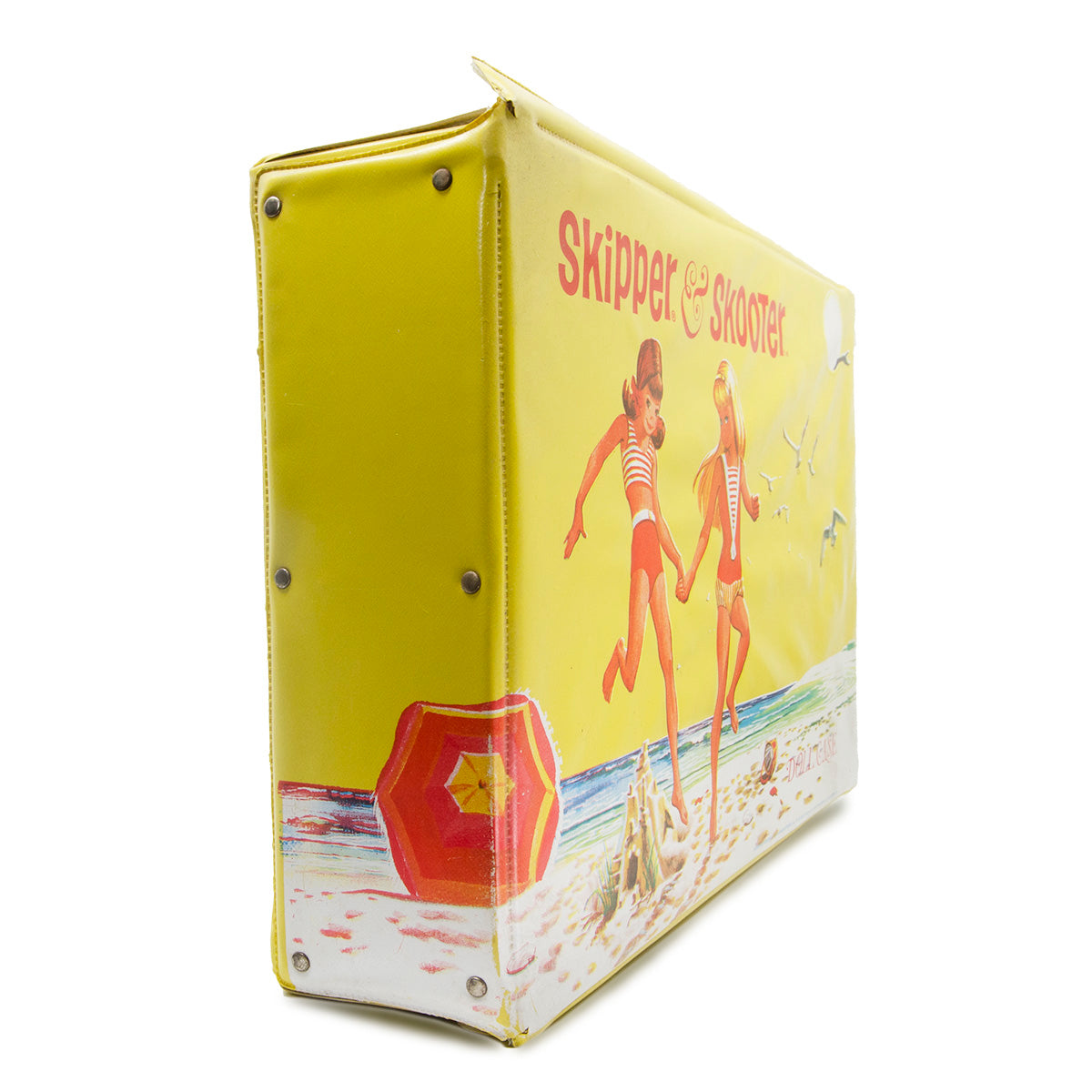 Skipper doll accessories, yellow trunk, yellow carrying case