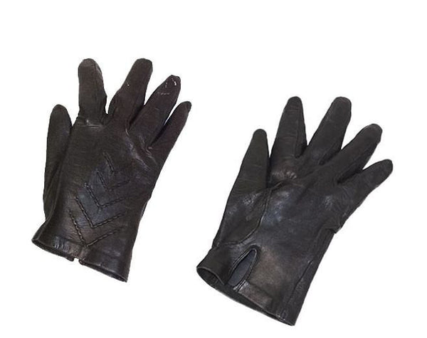 1960s Black Calfskin Winter Gloves