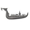 Vintage Siam Silver Brooch, Royal Dragon Boat, King of Thailand