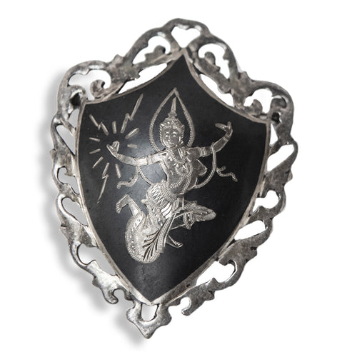 Mekkalah the Goddess of Lightning siam silver brooch