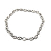 lobster clasp, silver metal choker
