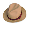 Straw Fedora, Red & Black Hatband