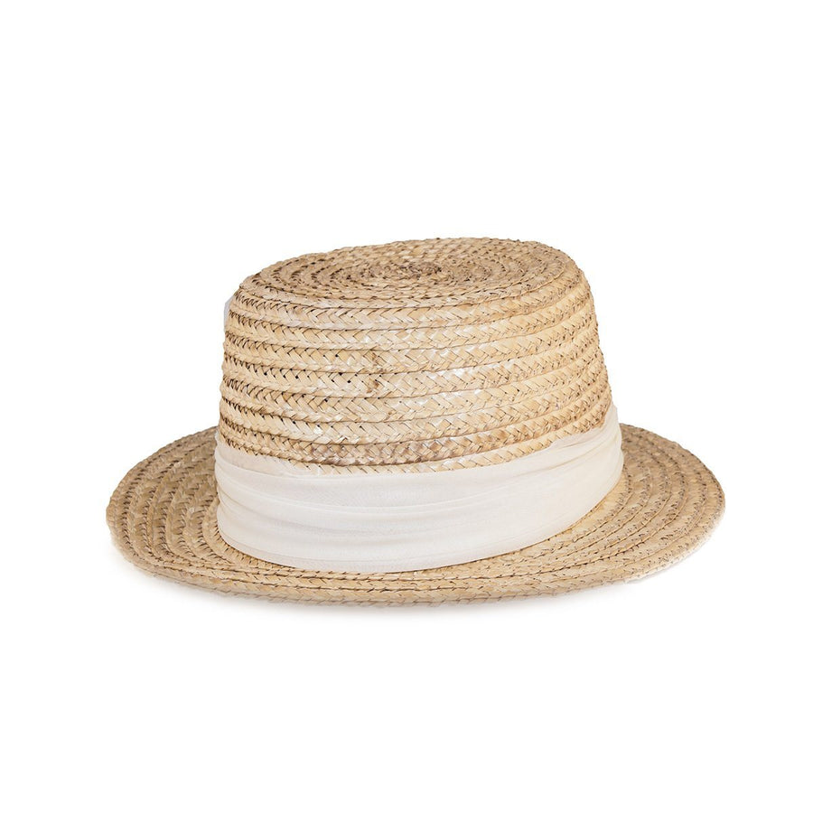 74c1753c Vintage 1950s Happy Cappers Straw Sun Hat, Built-in Scarf