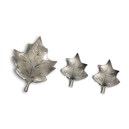 1950s Stuart Nye Sterling Silver Leaf Brooch & Earrings