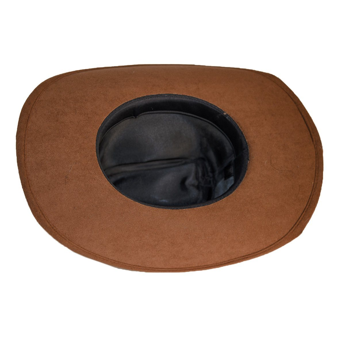 Vintage Cowboy Hat 6, Dark Tan Wool Felt, Feathers