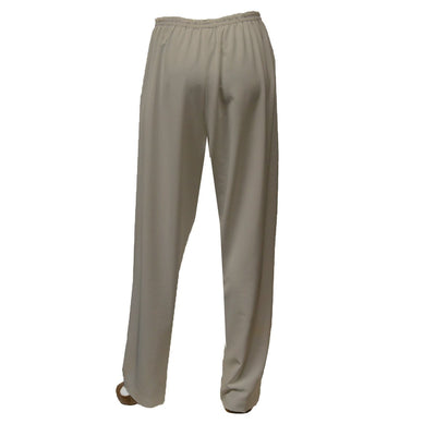 Tan Straight Leg Pants 3, Elastic Waist, XL