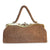 Antique Tan Pebble Leather Handbag, Silk Rope Handle