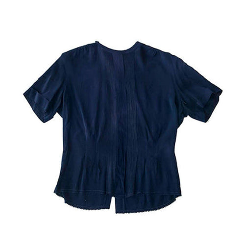 Vintage 50s Navy Blue MacShore Short Sleeve Shirt