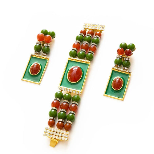 Vintage Valentino Bracelet & Earrings Set