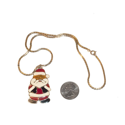 "Santa Claus Pendant Necklace 4 by Wallace Silversmiths, 20"" Chain"