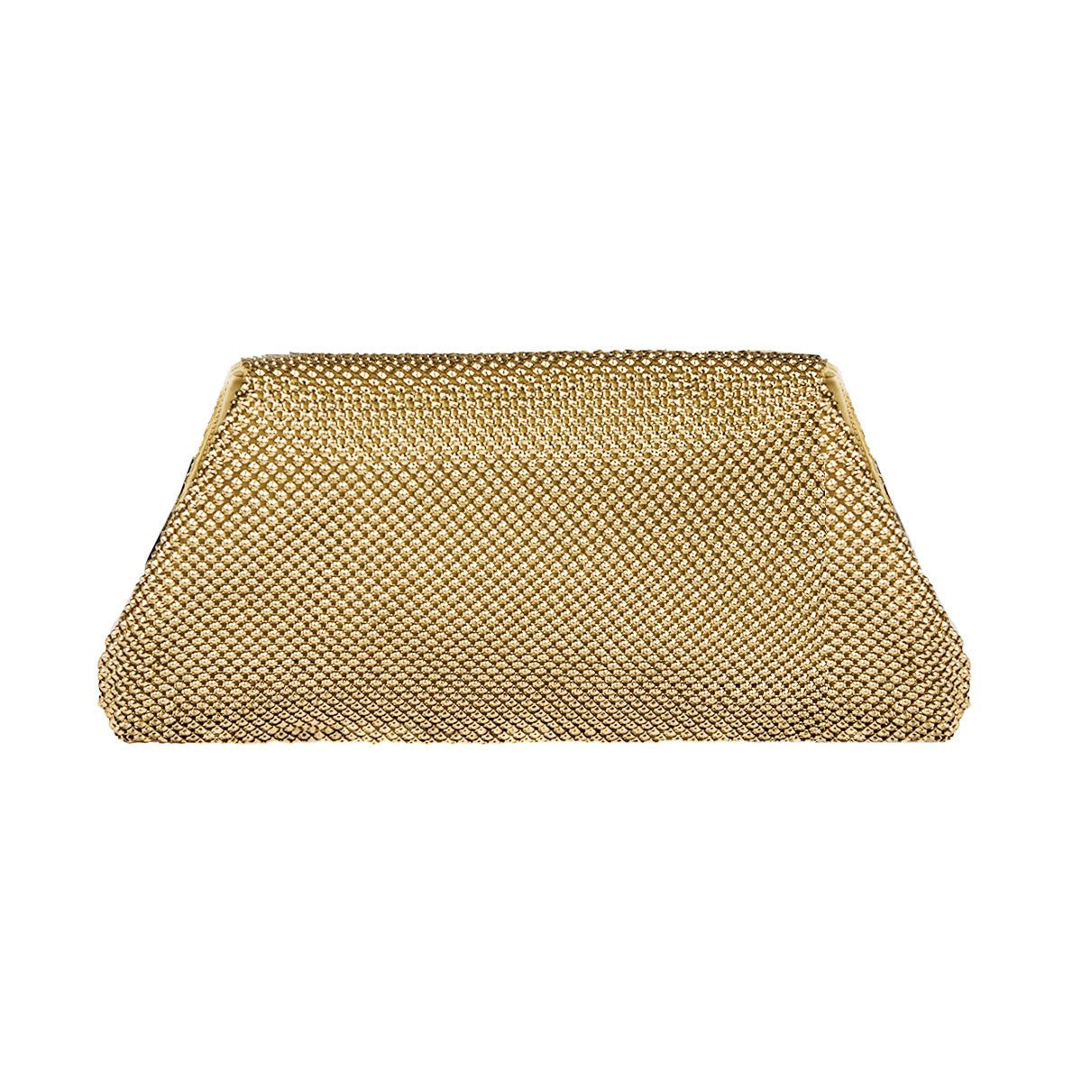 Whiting & Davis Rhinestone & Gold  Metal Mesh Clutch 2