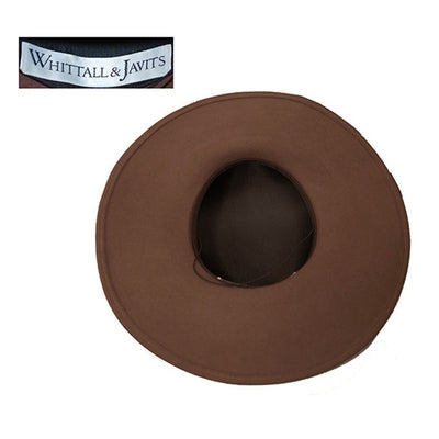Whittall & Javits Brown Velvet & Wool Felt Wide-brim Hat 7 with Netting, Hat Size 22