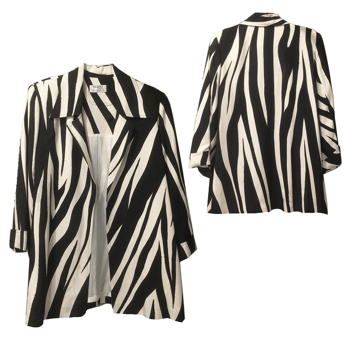 Yolanda Lorente clothing, yolanda hand-painted, black and white jacket, black and white blazer