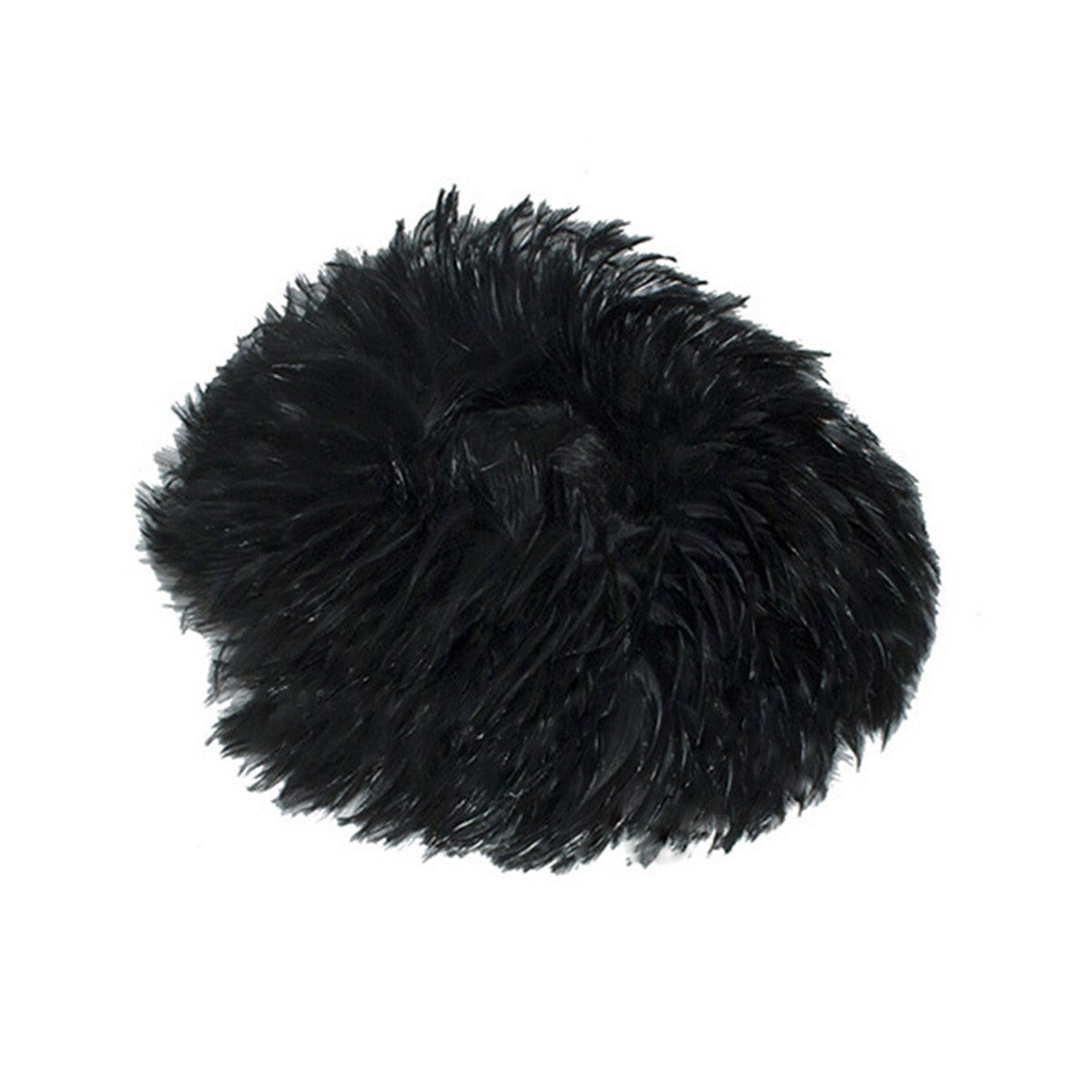 1950s All-Over-Feather Black Cocktail Hat