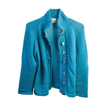 Vintage Cardigan, Bright Blue Knit