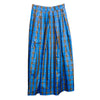 Vintage 80s Blue & Black  Taffeta Long Skirt