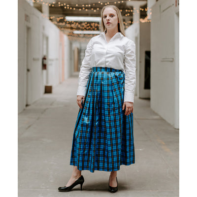long taffeta skirt, plaid taffeta skirt, holiday skirt, cocktail, evening skirt