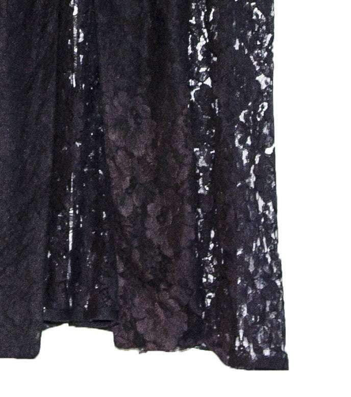 1950s Black Sheer Lace Evening Coat, Shawl Collar