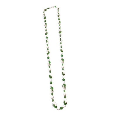 Green, White Geometric Beads 4