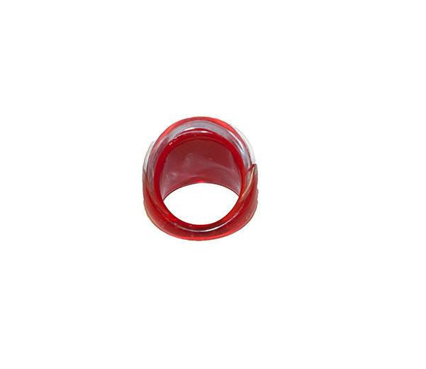 Bubble Ring, Abstract Pattern in Red & Blue, Ring Size 5 3