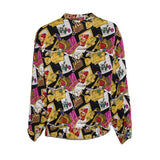 Vintage Long Sleeve Blouse 4 by Barrie Stephens, Night at the Opera Print