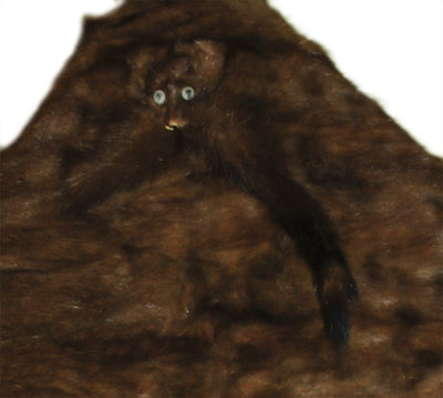 1930s Wild Brown Mink Stole with Head & Tails 4