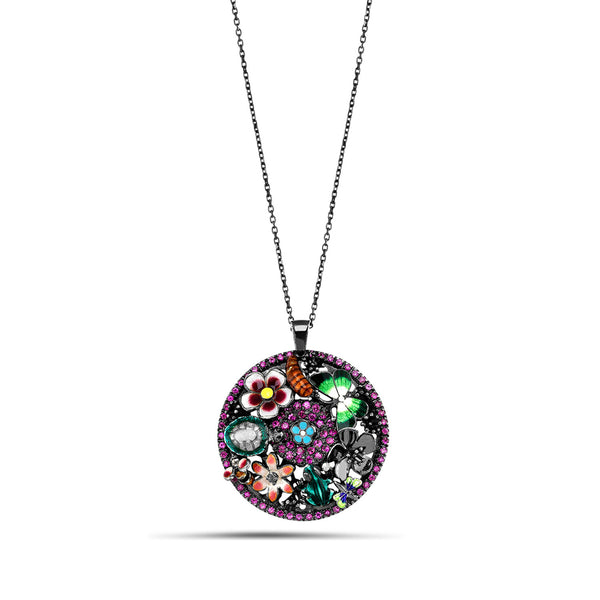 Noah's Ark Night - Rhodium Silver Necklace - Topaz Jewelry USA - ROBERTO BRAVO
