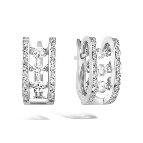 Salsa - 18k White Gold Trembling Diamond Earrings - Topaz Jewelry USA - ROBERTO BRAVO