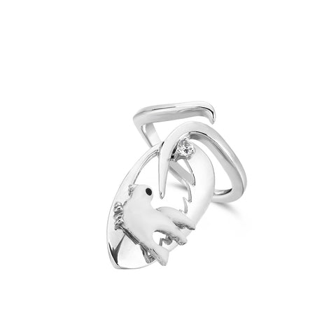 NINE3FIVE - Silver Dove Nail Ring - Topaz Jewelry USA - ROBERTO BRAVO