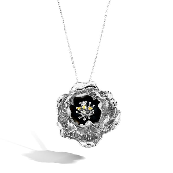 Gallica - Silver Night Bloom Necklace - Topaz Jewelry USA - ROBERTO BRAVO - 1