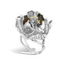 Gallica - Silver Dusk Bloom Ring - Topaz Jewelry USA - ROBERTO BRAVO - 1