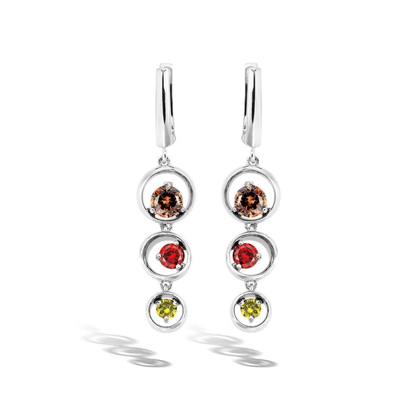 Hypnose - Silver Quartz Mesmerize Earrings - Topaz Jewelry USA - ROBERTO BRAVO